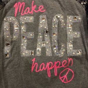 🌟JUSTICE🌟Grey~sparkles/sequins long sleeve size7